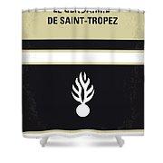 No186 My Le Gendarme De Saint-tropez Minimal Movie Poster Shower Curtain