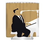 No190 My Fats Domino Minimal Music Poster Shower Curtain