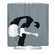 No197 My Nine Inch Nails Minimal Music Poster Shower Curtain