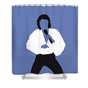 No198 My Barry Manilow Minimal Music Poster Shower Curtain
