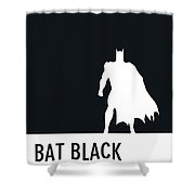 No20 My Minimal Color Code Poster Batman Shower Curtain