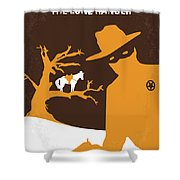 No202 My The Lone Ranger Minimal Movie Poster Shower Curtain