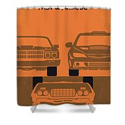 No207-4 My Fast And Furious Minimal Movie Poster Shower Curtain