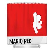 No33 My Minimal Color Code Poster Mario Shower Curtain
