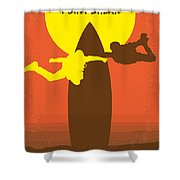 No455 My Point Break Minimal Movie Poster Shower Curtain by Chungkong Art