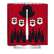 No463 My The Untouchables Minimal Movie Poster Shower Curtain