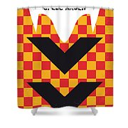 No482 My Speed Racer Minimal Movie Poster Shower Curtain