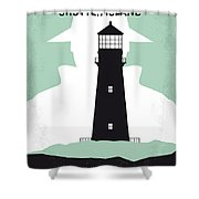 No513 My Shutter Island Minimal Movie Poster Shower Curtain