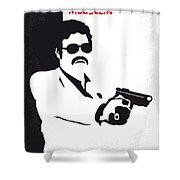 No526 My Medellin Minimal Movie Poster Shower Curtain
