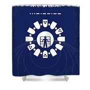 No532 My Interstellar Minimal Movie Poster Shower Curtain by Chungkong Art