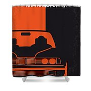No552 My The Transporter Minimal Movie Poster Shower Curtain