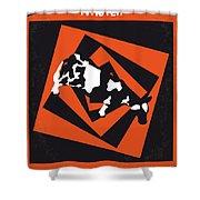 No560 My Twister Minimal Movie Poster Shower Curtain