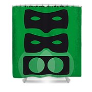 No561 My The Green Hornet Minimal Movie Poster Shower Curtain