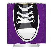 No610 My Footloose Minimal Movie Poster Shower Curtain