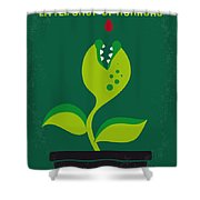 No611 My Little Shop Of Horrors Minimal Movie Poster Shower Curtain
