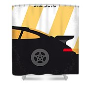 No627 My Bad Boys Minimal Movie Poster Shower Curtain