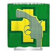 No628 My Drugstore Cowboy Minimal Movie Poster Shower Curtain