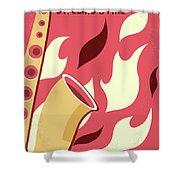 No657 My St Elmos Fire Minimal Movie Poster Shower Curtain