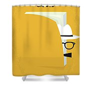 No671 My Capote Minimal Movie Poster Shower Curtain