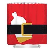 No702 My Bad Santa Minimal Movie Poster Shower Curtain