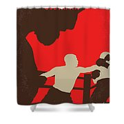 No723 My Southpaw Minimal Movie Poster Shower Curtain