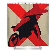 No728 My Xxx Minimal Movie Poster Shower Curtain