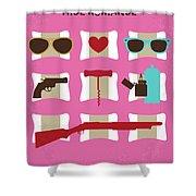 No736 My True Romance Minimal Movie Poster Shower Curtain