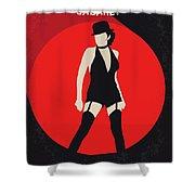 No742 My Cabaret Minimal Movie Poster Shower Curtain