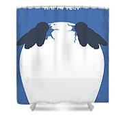 No744 My Happy Feet Minimal Movie Poster Shower Curtain