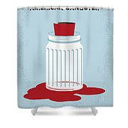 No748 My American Gangster Minimal Movie Poster Shower Curtain