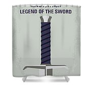 No751 My King Arthur Legend Of The Sword Minimal Movie Poster Shower Curtain