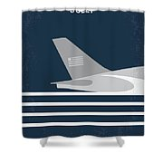 No754 My Sully Minimal Movie Poster Shower Curtain