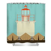 No760 My Moonrise Kingdom Minimal Movie Poster Shower Curtain