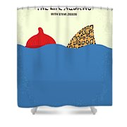 No774 My The Life Aquatic With Steve Zissou Minimal Movie Poster Shower Curtain