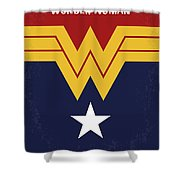 No825 My Wonder Woman Minimal Movie Poster Shower Curtain