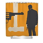 No854 My Payback Minimal Movie Poster Shower Curtain