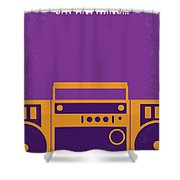 No886 My Say Anything Minimal Movie Poster Shower Curtain
