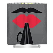 No924 My Ed Wood Minimal Movie Poster Shower Curtain