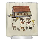 Noah's Ark And Animals Shower Curtain