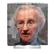 Noam Chomsky Portrait 1059 Shower Curtain