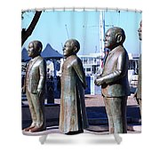 Nobel Square  /  To Honor South Africa's Four Nobel Peace Prize Laureates Shower Curtain
