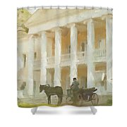 Noble Mansion Of The 19th Century In Russia Shower Curtain