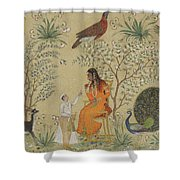 Noble Woman In A Garden Shower Curtain