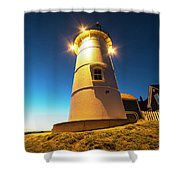 Nobska Light Falmouth Ma Cape Cod Window Shadow Shower Curtain
