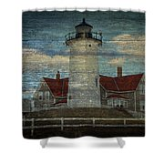 Nobska Lighthouse 2 Shower Curtain