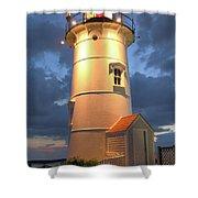 Nobska Point Lighthouse Shower Curtain