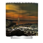 Nocturnal Tranquility Shower Curtain by Lourry Legarde