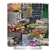 Nola Collage Art Shotgun House Shower Curtain