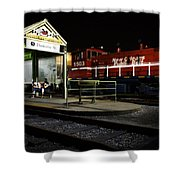 New Orleans Train Stop Shower Curtain