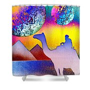Non-stop To Cairo Shower Curtain